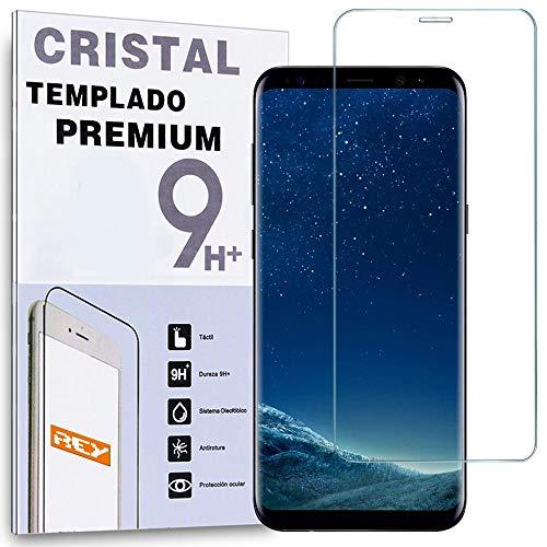 REY Protector de Pantalla para Samsung Galaxy S8 Plus Curvo Transparente, Cristal Vidrio Templado Premium