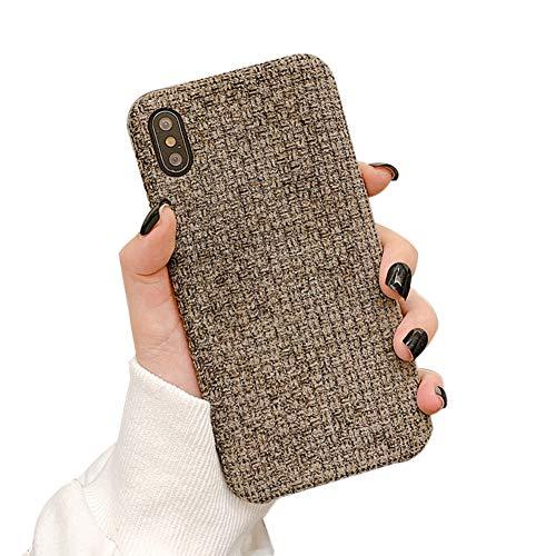 IPLUS - Funda para iPhone 8 Plus y 7 Plus, diseño de lujo simple y ligero, suave invierno cálido, funda protectora de parachoques para niñas y mujeres (marrón, iPhone 8 Plus/7 Plus)