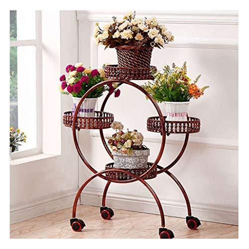 HDGAB installatie tentoonstellingsstand 4 dieren wagen, metaal indoor outdoor bloemen frame met wielen steunstructuur voor huistuin decoratie ladder