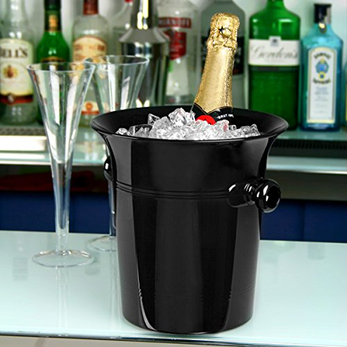 Acryl Wein & Champagner Eimer, schwarz–Acryl Ice Bucket, Wein Chiller
