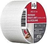 Kip 243–03fibra de vidrio–Cinta para juntas 48mm x 20m para espátula trabajar y reparaciones en mampostería y construcción en seco