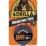 Gorilla Heavy Duty Double Sided Mounting Tape, 1' x 60', Black, (Pack of 1) - 6055001
