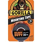 """Gorilla Heavy Duty Double Sided Mounting Tape, 1"""" x 60"""", Black, (Pack of 1)"""