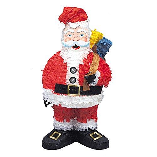 Unique Party - Pignatta a forma di Babbo Natale, 53 cm