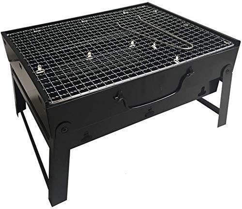 SHBV Parrilla de Barbacoa Plegable espesante portátil al Aire Libre Barbacoa de carbón para el hogar Herramienta de Utensilios espesados completos para el hogar
