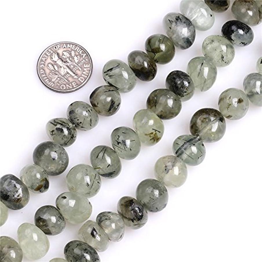JOE FOREMAN 8x12mm Green Prehnite Semi Precious Gemstone Freeform Potato Loose Beads for Jewelry Making DIY Handmade Craft Supplies 15