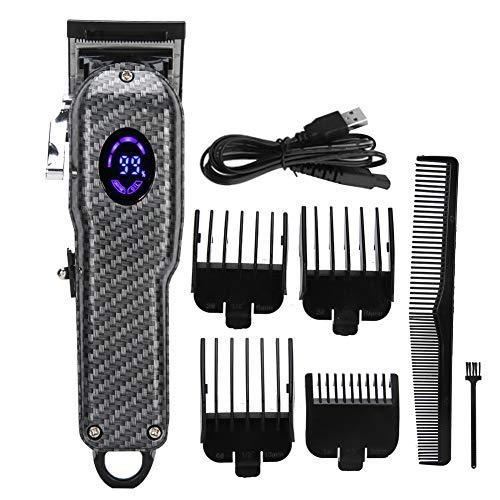Elektrisk hårklippare för män USB trådlös hårtrimmer med guide kammar hårstyling groomingkit frisör hårklippningsverktyg LED display