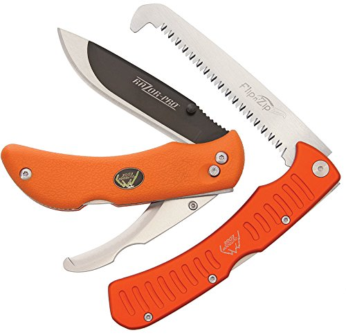 Outdoor Edge RazorPro - Double Blade Folding Hunting Knife with 3.5' Replaceable Razor Blade,...