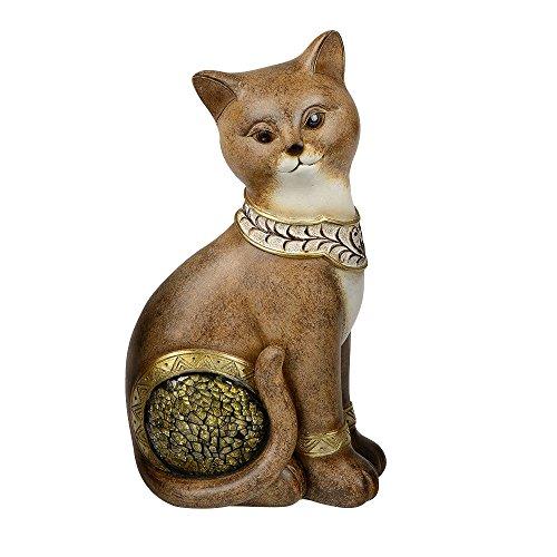 Formano Deko Katze aus Kunststein mit Mosaik-Elementen, 25 cm, Antik-Mosaik