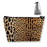 Leopard Maquillaje Tren Casos De Viaje Bolsa De Maquillaje Impermeable Portátil Estuches Cosméticos
