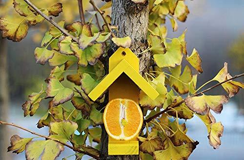 Nid d'Oiseau Hiver Chaud Bird Nest Maison Mangeoire À Oiseaux En Pin Fruits Alimentation Birdhouse En Plein Air Observation Des Jardins Jardinage Décoration De Jardin Convient aux poussins duveteux et