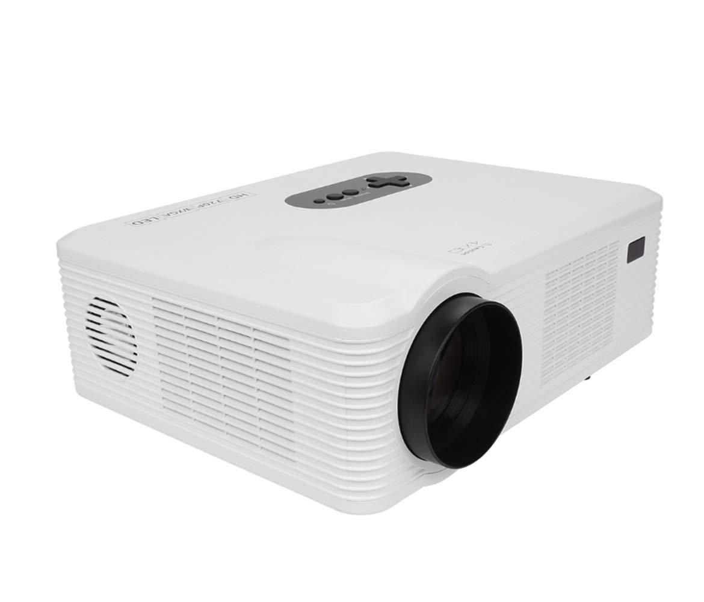 TQTQ CL720 HD LED Proyector Dual HDMI TV Multi-Interfaz Comercial Proyector Smart Proyector Oficina Micro-Proyección Portátil-Proyector De Vídeo Portátil,White: Amazon.es: Electrónica