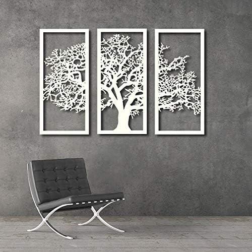 New item Tubibu 3 Framed Panels Albuquerque Mall Family Tree Metal Life Art of Wall