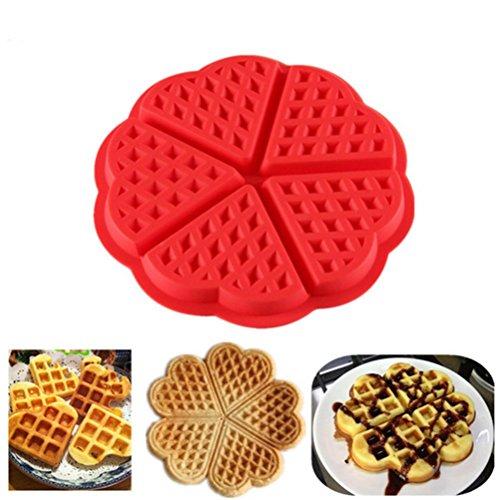 Rameng- Réutilisables Moule à Gaufre Plaque de Cuisson Muffin Silicone