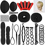 Hair Styling Accessories Kit Fashion Hair Design Styling Tools Magic Simple Fast Hair Braid Tools DIY Hair Accessories for Women and Girls (12 Styles)
