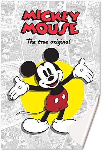 Mickey Mouse Fleecedecke 150 x 100 cm von Mickey Classic, Mehrfarbig, 150 x 100 cm