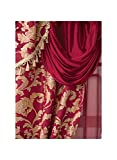 Carol Wright Gifts All-in-One Curtain Set, Burgundy, Size 56' W x 84' L Curtains