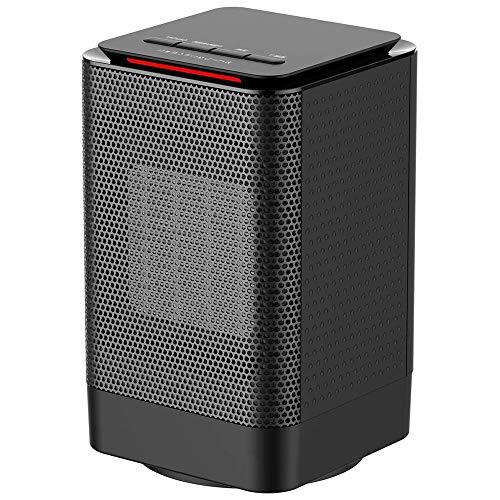 TEHWDE Cerámica Calefactor, 950W 2 Segundos Calienta con Doble Protección Frente al Calentamiento, Calefactor de Bajo Consumo,...
