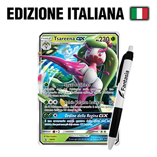 Fantàsia Tsareena GX - Carta Pokemon ITA - Promo - SM56 + Penna