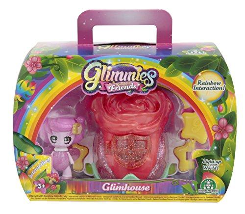 Giochi Preziosi Rainbow Friends, Glimhouse Rosa con Glimmies Esclusiva, Beelenia, GLN04400