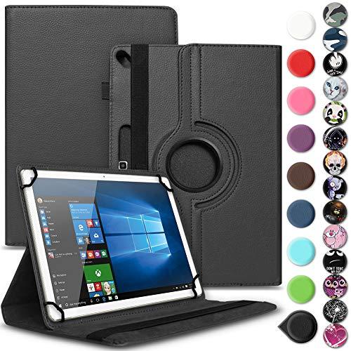 Archos 101b Oxygen Tasche Hülle Tablet Cover Schutz Case Schutzhülle 360° Drehbar, Farbe:Schwarz