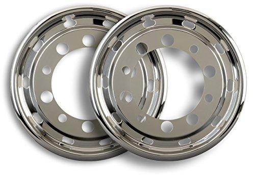 2 tapacubos universales de 22,5 pulgadas para neumáticos anchos de 11,75 x 22,5 pulgadas con ET de 120 mm para camiones.