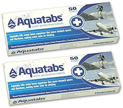 Tiendas LGP - Pack de 100 Pastillas potabilizadoras para el Agua, Aquatabs.