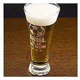 Regalo Personalizable para Hombres por su cumpleaños: Copa de Cerveza grabada con su Nombre y el Texto El as del balón