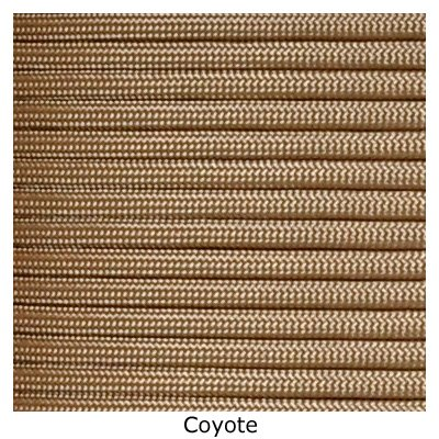 Tactical 550 Paracord - Coyote Brown, 1000 FT