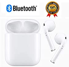 Bluetooth Headset, Wireless Bluetooth Headset ,Stereo Headset, Sports Headset, Mini Charging Headset, Compatible with iPhone/Ipad/Samsung/Android (White)