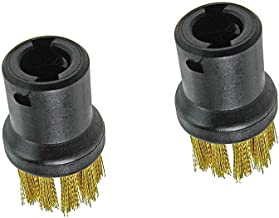 Xkfgcm Pack of 2 Brass Wire Brush Tool Nozzles for Karcher Steam Cleaners SC1 SC2 CTK10 SC3 SC4 SC5 SC7 Replacement High-S...