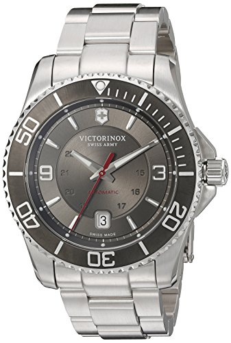 Victorinox Men's 'Maverick' Swiss Automatic Stainless Steel Casual Watch, Color:Silver-Toned (Model: 241705)
