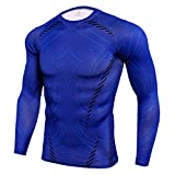NATURET Men's Compression Quick Dry Baselayer Athletic Sweat Shirts Fit Running Cool Shapewear (XXXL, Multicolor30)