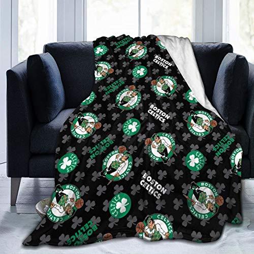 JINfjapafg Blanket Boston Basketball Cel-tics Art Blanket, Fashionable Custom Soft Blanket, Flannel Fleece Blanket, Super Soft Blanket, Suitable for Sofa, Living Room, Camping, Cold Cinema or Travel!