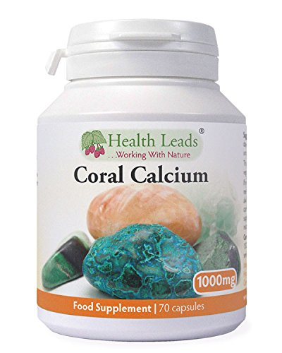 High Strength Coral Calcium 1000mg x 70 Capsules (100% Additive Free Supplements)