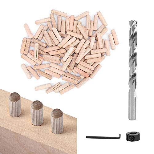 【𝐇𝐚𝐩𝐩𝒚 𝐍𝐞𝒘 𝐘𝐞𝐚𝐫 𝐆𝐢𝐟𝐭】Hard Impact Resistant 1/2# Wood Dowel Pins, 100pcs Straight Dowel Pins Dowel Pins Drill Bit, for Carpentry DIY Board