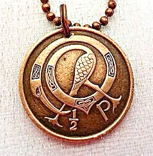 Irish Coin necklace. Tiny CELTIC COIN NECKLACE. Ireland jewelry