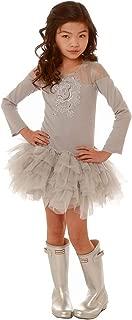 Ooh la la! Couture SilverFlower Sheer Shoulder Long Sleeve Crazy Dress FH1643
