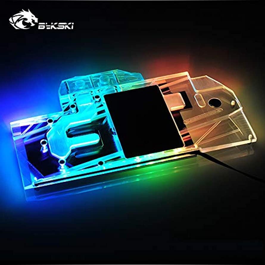 GPU Copper Water Cooling Block Full Cover Waterblock Water Block for MSI RTX 2080 Gaming X Trio 5V 3PIN RGB LED Remote Control