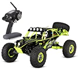 GoolRC WLtoys 10428 RC Car 1/10 Scale High Speed 2.4G Remote Control 4WD Electric Brushed Crawler RTR, Green
