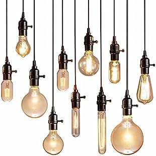 Customer reviews Cwill Vintage Pendant Lights Luminaire Lamp Loft E27 Hanglamp Lustre Lamparas Colgantes For Restaurant Kitchen Home Lighting Abajur,Antique