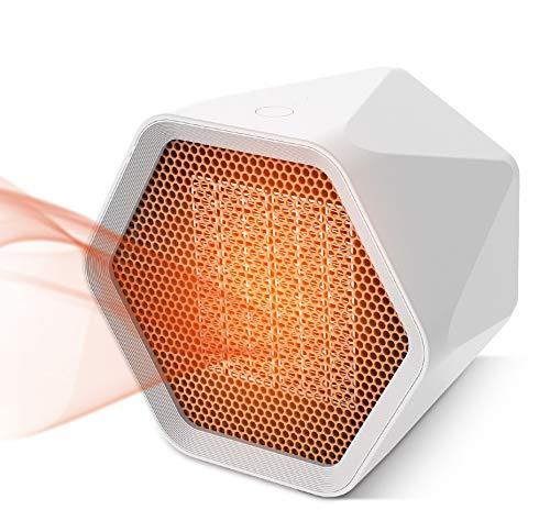 welltop Fan Heater 1000W/600W Mini Portable Ceramic Fan Heater 3s Fast...