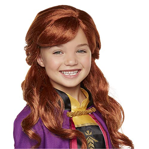 "Disney Frozen 2 Anna Wig, 18"" Long Flowing Red Hair with Braid Detail for Girls Costume, Dress Up or Halloween - For Ages 3+"