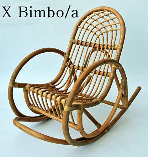 OKAFFAREFATTO MADDALONI Mecedora mecedora de niño/a de mimbre bambú ratán y junco natural sol