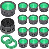 20 Pieces Faucet Aerator Kitchen Sink Flow Faucet Restrictor Insert Replacement with Stainless Steel Mesh and 20 Pieces Rubber Washers for Bathroom