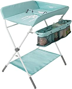 ALXLX Foldable Baby Changing Diaper Table  Foldable Cross Leg Style Changing Station  Portable Dresser Newborn  Color