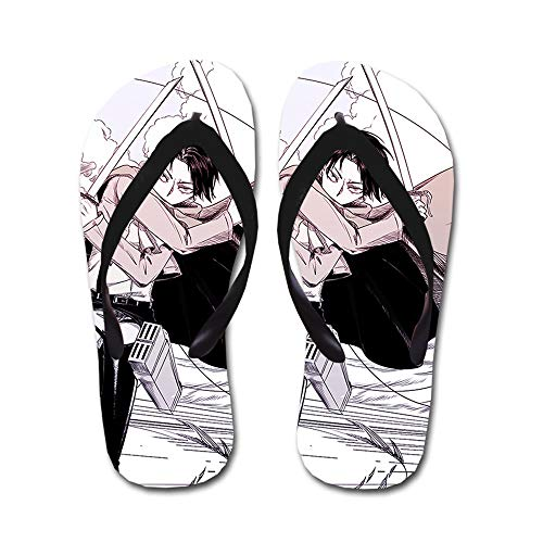 KaiWenLi Attack On Titan Series/Levi · Rivaillei Battle Pattern/Animation Flip-Flops/Beach Beach Shoes/Thong Sandals/Best Shoes in Summer/Best Gifts for Anime Fans and Otaku (Size : M)