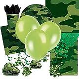 Tarnmuster Armee Thema Ultimate Party Kit für 8