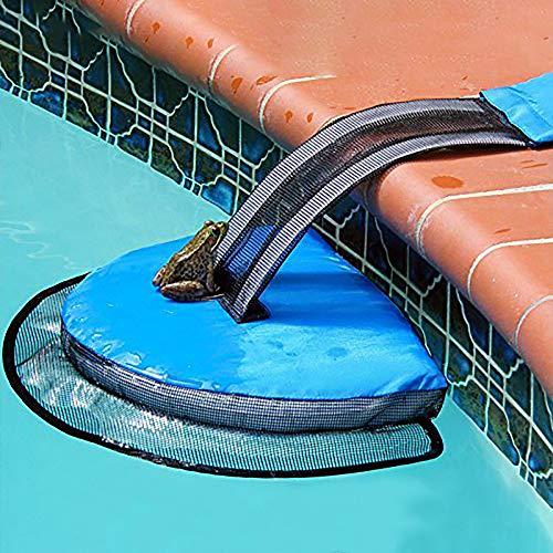 zhuangyulin6 Tierrettende Fluchtrampe für Poolfluchten Poolzubehör, Chipmunk-Ente Schwimmen Rettungspoolzubehör Tierrettende Fluchtnetz-Fluchtrampe