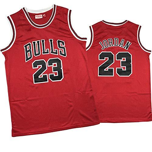 ZHAW Camiseta de baloncesto Bulls Jordan de 1998, edición final, para hombre, de malla, transpirable, de secado rápido, uniforme de baloncesto conmemorativo, chaleco de baloncesto, talla L